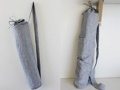 Yoga Mat Bag with step-by-step instructions. Made Oct 27th for Shawn. Didn't include the pocket on the front.