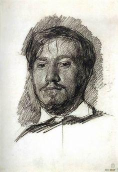 Serov - Self-Portrait Серов В.А. Автопортрет. 1883.  ГРМ
