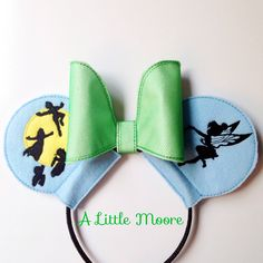 Custom Disney Mouse Ears Peter Pan and Tinkerbell! Perfect way to show off my Disneyside!