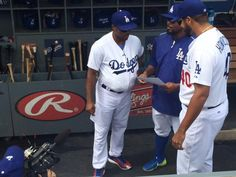 Dodgers Blue Heaven: Blog Kiosk: 10/5/2015 - Dodger Links - Grienke the COmedian, Seager the Starter and Rollins as Lasorda