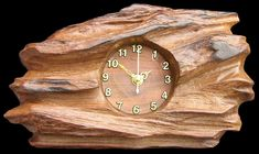 wood clock | Wooden clock made from reclaimed teak with battery powered.