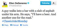 Ellen DeGeneres' Classic Joke Monday @theellenshow