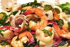 Italian-style Seafood Recipe - frutos do mar e rios - Comidas Shrimp Recipes, Keto Recipes, Cooking Recipes, Healthy Recipes, Classic Italian Dishes, Fish And Seafood, Pasta Salad, Italian Recipes, Potato Salad