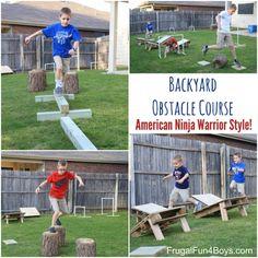 American Ninja Warrior Backyard Obstacle Course