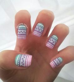Nail art-aztec| Tumblr