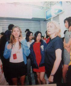 back stage at x-girl (sofia coppola / kim gordon)