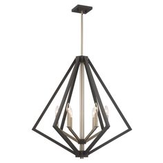 """ARTCRAFT Breezy Point Bronze Transitional Chandelie at Lowe's. This 6 light large chandelier from the """"Breezy Point"""" collection features a unique design with a two tone frame. On the outside the fixture is bronze, Bronze Chandelier, Candle Chandelier, Candelabra Bulbs, Chandelier Lighting, Unique Chandelier, Ceiling Pendant, Ceiling Lights, Light Pendant, Sloped Ceiling"""