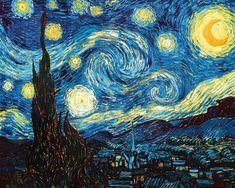 Amanti Art 'Starry Night' by Vincent Van Gogh Framed Painting Print Famous Art Paintings, Van Gogh Paintings, Van Gogh Tapete, Painting Frames, Painting Prints, Painting Edges, Painting & Drawing, Van Gogh Wallpaper, Fabric Wallpaper
