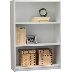 3-shelf Bookcase for Dorm Room, Home Office, Living Room Kids Room, White