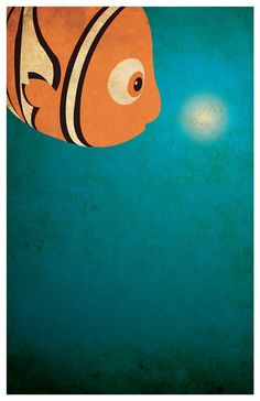 Disney Pixar movie poster - Finding Nemo Poster size: 11 inches x 17 inches - Printed on high quality, weather resistant, texture Disney E Dreamworks, Disney Pixar Movies, Film Disney, Disney Art, Disney Minimalista, Poster Minimalista, Nemo Wallpaper, Disney Wallpaper, Disney Love