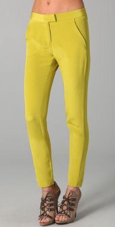 Kaelen Lea Pants in Chartreuse $197.50 from ShopBop