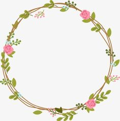 something to draw Flower Circle, Flower Frame, Crown Flower, Embroidery Patterns, Hand Embroidery, Flower Png Images, Wreath Drawing, Borders And Frames, Floral Border