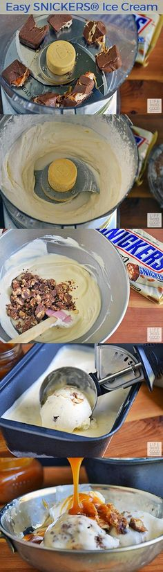 Easy SNICKERS® Ice Cream | by Life Tastes Good is no churn, so that means no special equipment needed! Anyone can make this creamy, delicious frozen treat! I love how smooth and creamy no churn ice cream is too! #WhenImHungry #ad