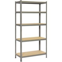 "Utility Shelves Walmart Gorgeous Yaheetech 71""height Silver 5 Tier Metal Shelving Unitbolhttps Design Inspiration"