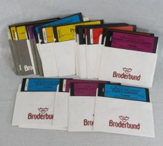Print Shop Apple II Vintage 22 Floppy Disk Lot Graphics Library Party Holiday