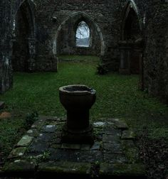 Old Church Ruins Stock 04 . by AledJonesDigitalArt on DeviantArt Old Church Ruins Stock 04 . by Alz-Stock-and-Art fountain holy water castle fortress ivy landscape location Abandoned Buildings, Abandoned Places, Castle Ruins, Medieval Castle, Old Churches, Wow Art, Warhammer 40k, Fountain, Places To Go