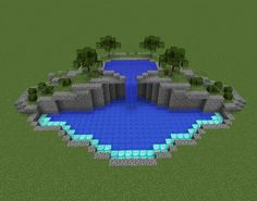 Swimming Pool on 2 levels - GrabCraft - Your number one source for MineCraft buildings, blueprints, tips, ideas, floorplans!