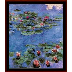 "Finished Sizes (approximate) 14 count: 21.5"" x 25.75"" 18 count: 16.75"" x 20"" 22 count: 13.75"" x 16.25"" Stitches: 300w x 360h  Claude Monet cross stitch pattern by Cross Stitch Collectibles Pattern Features: * Full"