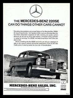 mercedes vintage ads - Cerca con Google