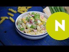 Színes sonkás tésztasaláta | Nosalty - YouTube Pasta Salad, Potato Salad, Potatoes, Rice, Ethnic Recipes, Youtube, Food, Food Food, Crab Pasta Salad