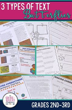 All About Butterflies: Informational text, fictional story and a poem! Your primary students will love learning all about butterflies with these texts and lessons plans.