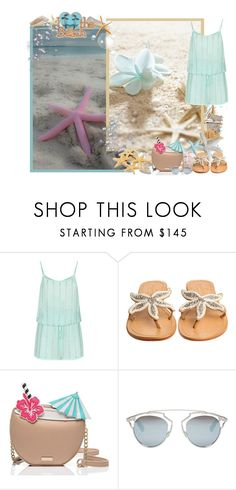 """Summer ♥"" by asia-12 ❤ liked on Polyvore featuring Masquerade, ELIZABETH HURLEY beach, ASPIGA, Kate Spade, Christian Dior, C.R.A.F.T., Summer and beach"