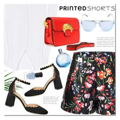 """""""Yoins shorts"""" by mada-malureanu ❤ liked on Polyvore featuring Chloé, Quay and Deborah Lippmann"""