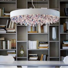 Contemporary Lighting Interior Decorating Ideas, Crystal Lamps Ola by Masiero - Home Design Inspiration Plastic Chandelier, Crystal Chandelier Lighting, Metal Chandelier, Modern Chandelier, Crystal Lamps, Ceiling Hanging, Ceiling Lights, Lustre Metal, Modern Lighting Design
