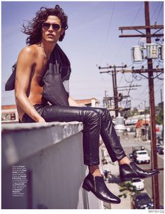 Miles McMillan Channels Jim Morrison for British GQ