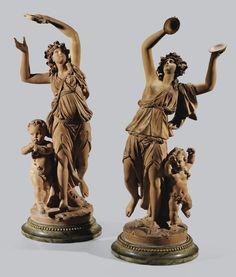 Pierre-Philippe Thomire, 1751-1843<br>Paire de Bacchantes, vers 1790   Lot   Sotheby's