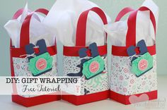 Box in a Bag tutorial. Great gift wrapping super easy DIY gift bags