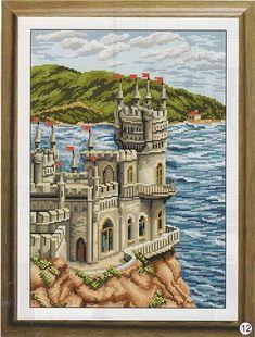 Замок у моря схема вышивки крестом. Вышивка крестом замок | Я Хозяйка