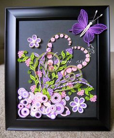 Ayani art: Pink and Purple Quilling