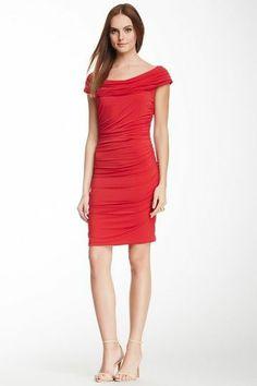 BCBGMAXAZRIA Mona Ruched Dress