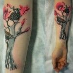 Grey Tree Kingfisher tattoo by Sasha Unisex