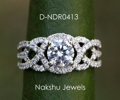 Fiery 2.00 ct Vs1 OFF WHITE REAL MOISSANITE .925 STARLING SILVER ENGAGEMENT RING #NakshuJewels #Solitaire