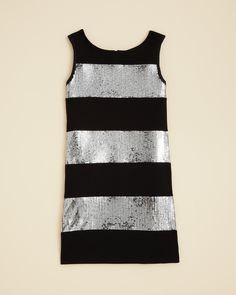 Biscotti Girls' Glitterati Striped Sequin Dress - Sizes 4-6X | Bloomingdale's