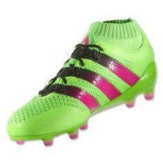 best service de14e e5bc1 Adidas ACE 16.1 Primeknit FG Soccer Cleats Solar Green-Shock Pink-Black