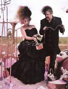 Tim Burton and Helena Bonham Carter Vogue 2008