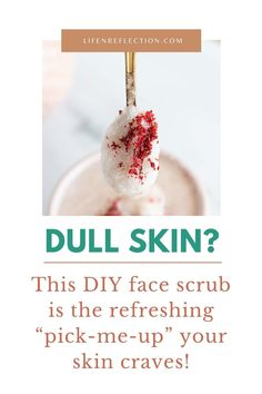 """If you got dull skin this """"pick-me-up"""" DIY face scrub your skin is craving!! Face Scrub At Home, Diy Face Scrub, Homemade Exfoliating Scrub, Face Scrub Homemade, Clean Beauty, Diy Beauty, Beauty Hacks, Pomegranate Oil, Citrus Essential Oil"""
