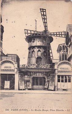 PARIS 216 LL le moulin rouge place blanche écrite   eBay