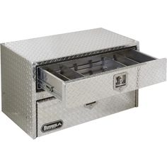 Buyers Products Aluminum Underbody Truck Box with Drawer — Diamond Plate, x x Model# 1712205 Truck Boxes, Tool Board, Work Tools, Truck Accessories, Drawers, Trucks, Jeeps, Welding, Cars