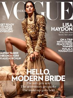she-loves-fashion: Lisa Haydon Vogue India November 2014