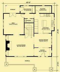 Main Level Floor Plans For Cozy Craftsman