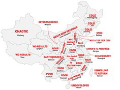 A Map of China, By Stereotype