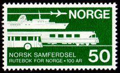 Norway, stamp of Norwegian Transport Guide
