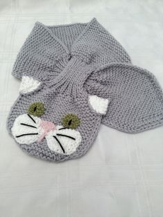 Animal Keyhole Scarves (knit)