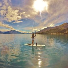 SUP in Queenstown, New Zealand.