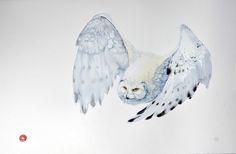 Artist Uses Calligraphy Brushes to Create Breathtaking Watercolor Paintings of Birds - My Modern Met