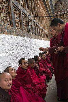Debating Monks - Tibet